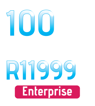 Get Enterprise quality Uncapped LightSpeed Fibre Optic Broadband from as little as R11 999 per Month.
